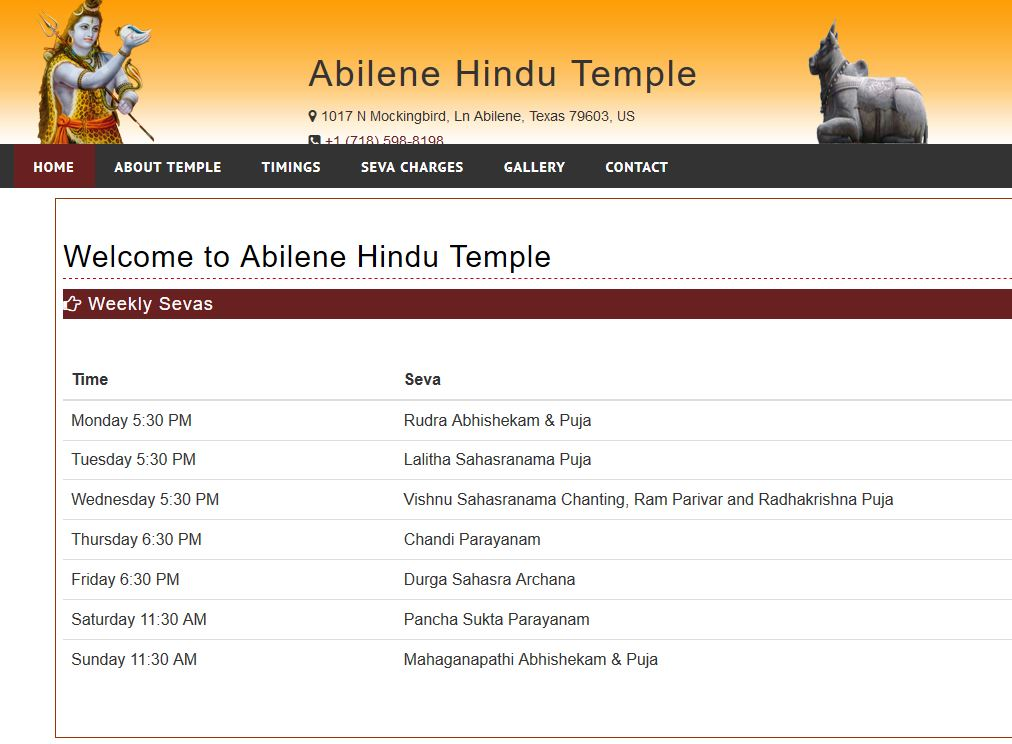 Hinduism has a home in Abilene, Texas, USA