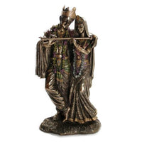 KRISHNA AND RADHA STATUE 11.5'' Hindu Divine Love HIGH QUALITY Bronze Resin Deity - HolyHinduStore