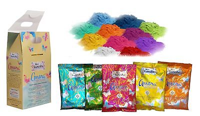 Amora Organic Herbal Holi Colors Gulal Box with 5 Different Colors 500g. ... New - HolyHinduStore
