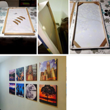 DIY Wood Frame For Paintings/Posters/Pictures/Canvas. Stretched Wooden Frame For Home/Bar/Wall Decor/Custom Size DIY Frame