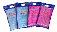 Skin and Environment Safe - Color Powder - 4 x 1kg Packets Blue/Pink Total of 8.8 pounds - HolyHinduStore
