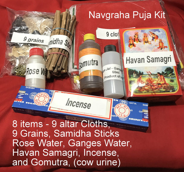 Navgraha Puja Kit - 8 items - Puja Ceremony   Ritual - HolyHinduStore