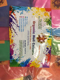 Holi Color Powder Herbal Gulal Organic Colors Holi party  10pack x 200gm - HolyHinduStore