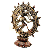 DANCING SHIVA STATUE 9'' Nataraja Hindu God GOOD QUALITY Bronze Resin Deity India - HolyHinduStore