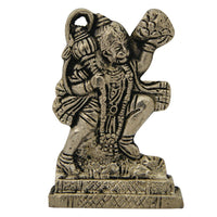 Divya Mantra Combo Of Orange Flying Hanuman Car Mirror Hanging and Hindu God Hanuman Idol Sculpture Statue Murti - HolyHinduStore