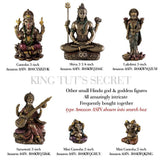 "Top Collection Mini 3.25"" Lord Shiva in Lotus Pose - Hindu God and Destroyer of Evil. Good Protection. Bronze Powder Mixed with Resin - Bronze Finish with Color Accents. - HolyHinduStore"