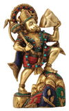 Gangesindia Lord Hanuman Carrying The Mountain of Herbs - HolyHinduStore