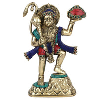 Statuestudio Lord Hanuman Carrying Mountain Statue - HolyHinduStore