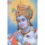 Lord Krishna Drawings - Do-it-Yourself (DIY) Stone Embroidery Painting - Stitch / Needlework Hobby - HolyHinduStore