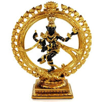 DANCING SHIVA STATUE 12.25'' Nataraja Hindu God HIGH QUALITY Black Gold Resin NEW - HolyHinduStore