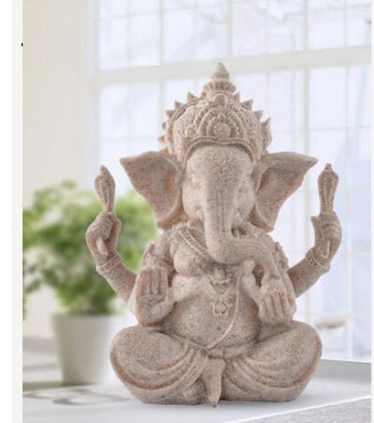 Lord Ganesha Statue / Sculpture  - Hand Carved Sandstone - Ceremony Ornaments / Gift / Home Decor(New) - HolyHinduStore