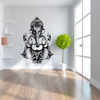 Ganesha  -  God Yoga mandala decorative wall stickers room stickers Ganesha - HolyHinduStore