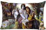 Lord Krishna Pillowcases - 35x45cm(13.7x17.7 inch) Pillow Cover - One Side Printed - HolyHinduStore