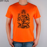 GANESH elephant god Ganesha Indian Buddhist men short sleeve T-shirt new arrival Fashion - HolyHinduStore