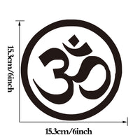 Om Aum Symbol Hindu Yoga Computer Sticker For Bike Laptop Small Vinyl Laptop Decal Notebook Stickers - HolyHinduStore