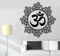 Yoga Indian Spiritual Lotus Vinyl Decal Removable Wall Stickers Home Decor Wallpaper - HolyHinduStore