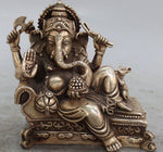 "Ganesha Statue / Lucky  Ganesha with 4 Arms 6"" (6 Inches) - HolyHinduStore"