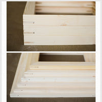 Wood frame - Suits for all kinds of DIY oil painting stretcher - Convex wood frame for wall painting, picture and photo door - HolyHinduStore