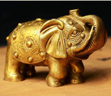 Elephant Statue (Copper) - Lucky Home Decor / Lovely Luck Gift - HolyHinduStore
