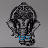 Ganesha Crown Wall Decal Hindu Gods Vinyl Sticker Room Interior Decor Art Mural -H 74cm x W 57cm - HolyHinduStore