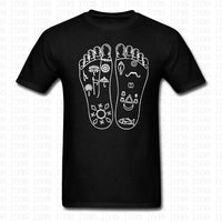 KRISHNA FOOT PRINTS T-Shirt - Cotton - Short Sleeve  for Men & Women - HolyHinduStore