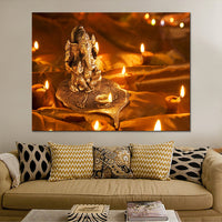 Canvas Painting Ganesha Wall Art Canvas Combination Painting Wall Pictures for Living Room Posters and Prints Landscape Q099