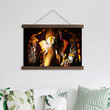 Lord Ganesha Scroll Hanging Canvas Painting Wall Art / HD Prints / Home Decor - HolyHinduStore