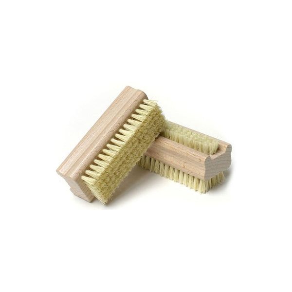 Wooden Handle Double Sided Natural Bristle Nail Brush - HolyHinduStore