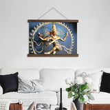 Lord Nataraja / Shiva Statue  Hanging Pictures | Scroll Paintings |  HD Printed On Canvas Wall Art For Living Room - HolyHinduStore