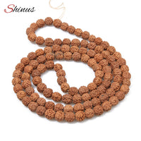 Rudraksha Beads -  Prayer 108 Pcs  - Chakras Meditation - HolyHinduStore