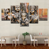 HD Canvas Paintings Wall Art Home Decor - For Living Room Framework -  Shiva Parvati Ganesha Poster - HolyHinduStore