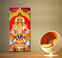 Lord Ayyappa Painting - Superior Quality Canvas Printed Wall Art Poster 3 Pieces / 3 Panel(Vertical) Wall Decor, Home Decor Pictures - HolyHinduStore