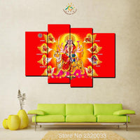 4 Pieces Hindu God Durga / Kali Matha Image Modern New HD Printed Wall Art Decor - HolyHinduStore