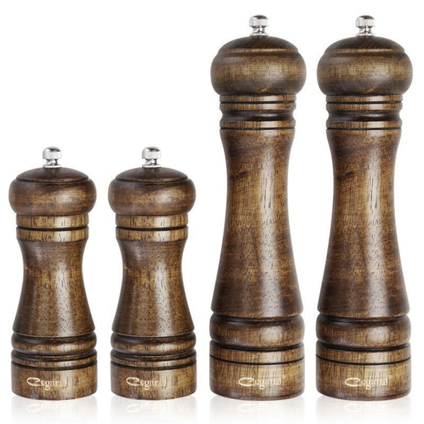 Wood Pepper Spice Mill Grinder Classical Oak Set Handheld Seasoning Mills Grinder Cooking - HolyHinduStore