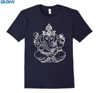 Cotton O-neck custom printed T-shirt Adult Ganesha Lord Ganesha Hindu Hot Trend T-Shirt - HolyHinduStore