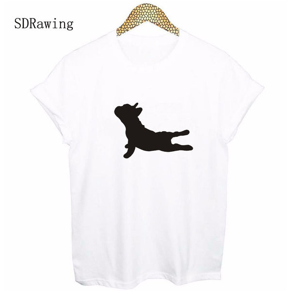 Fashion yoga dog Print Women tshirt Cotton Casual Funny t shirt For Lady Top Tee Hipster Tumblr Drop Ship - HolyHinduStore
