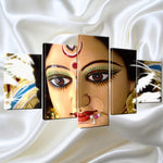 Wall Art Canvas Painting Hindu god goddess Durga (Kali) Pictures For Living Room 5 Panel - HolyHindu