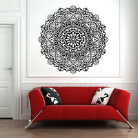 High Quality Hindu Mandala Yoga Indian Round Vinyl Stickers Wall Stickers Home Decor Living Room - HolyHinduStore