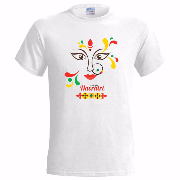 HAPPY NAVRATRI MENS T SHIRT MAA DURGA Kali HINDU HINDUISM FESTIVAL HINDI INDIAN - HolyHinduStore