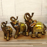Elephant Figurines with Trunk Up
