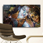 Krishna And Radha HD Canvas Oil Paintings