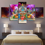 Elegant Hindu Temple Poster Modular Home Decoration Living Room