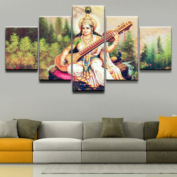 Saraswathi / Saraswati  - God Of Knowledge Wall Art