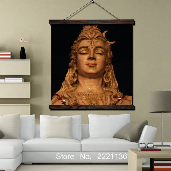 Shiva HD Print Scroll Paintings -  WallArt Home Decoration