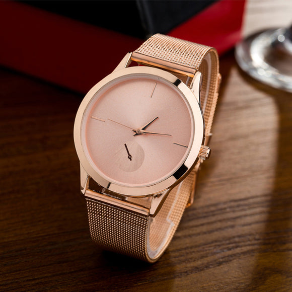 Simple Stainless Steel Mesh Watch for Women