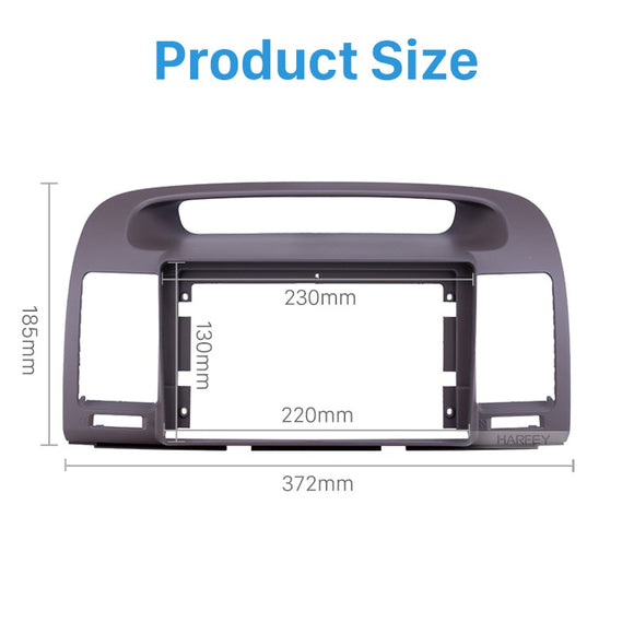 Harfey In Dash 9 inch Car Radio Fascia Panel kit Cover For 2000-2003 TOYOTA CAMRY OEM Style