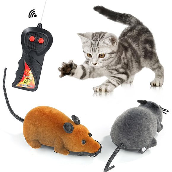 New 8 Colors Cat Toys Remote Control Wireless RC Simulation Mouse