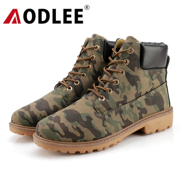 Waterproof Camouflage and Winter Boots - Plus Size 46 - AODLEE