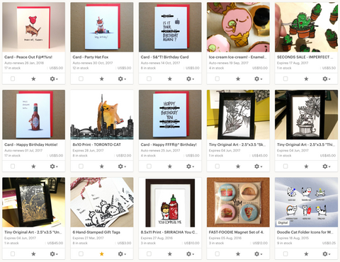 A screenshot of my Etsy product photography