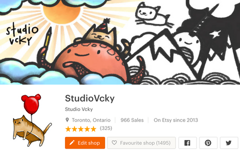 Etsy shop screenshot